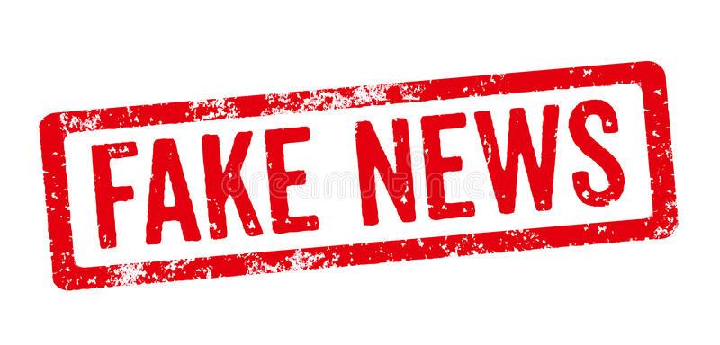 Fake News Stamp White Background PIC: dreamstime.com